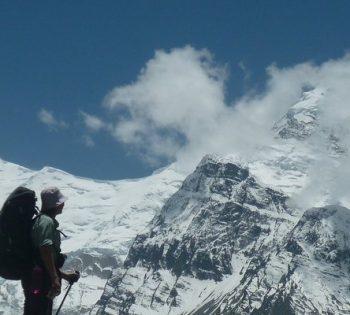 Snow topped Mt. Gangapurna
