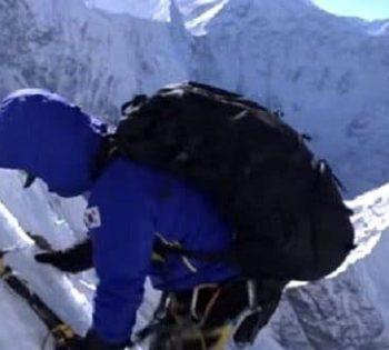 Climbing Nuptse