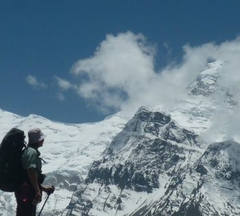 Snow topped Mt. Gangapurna during Gangapurna Expedition