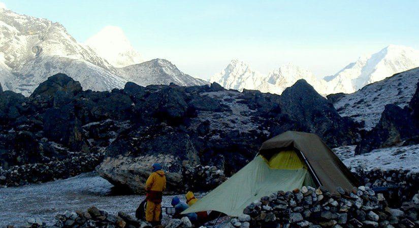 Photo taken near Api Himal Base Camp