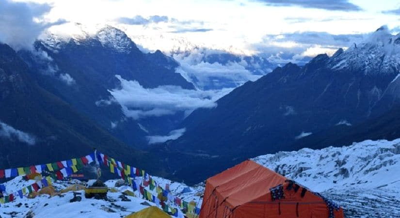 View from Manaslu Base Camp