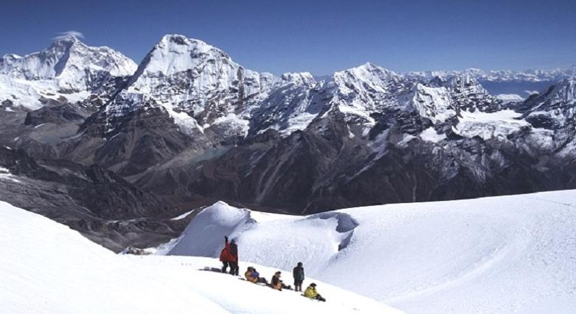Beautiful Sceneries of Snow-Peaked Mountains