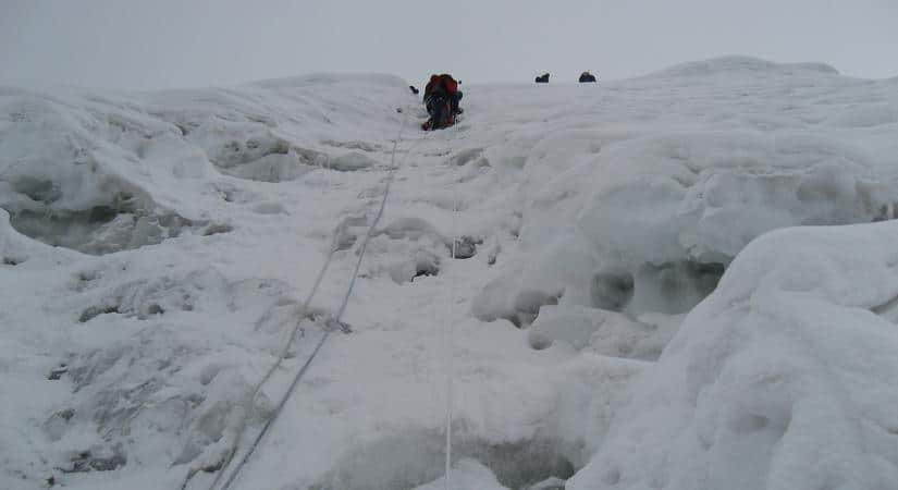 Trying to conquer Baruntse Peak