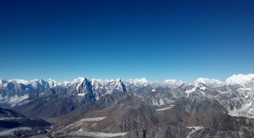 View of Everest Region from Island Peak Summit