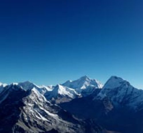 From the top of lobuche peak and Island Peak