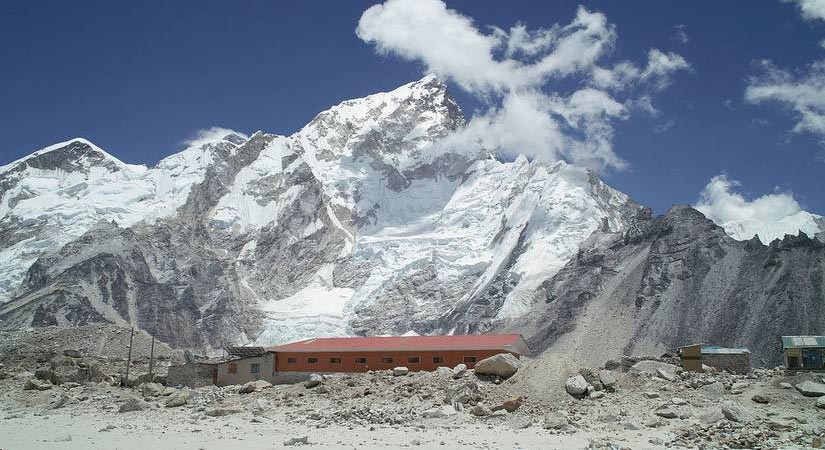 View of Everest and Nuptse from GorakShep