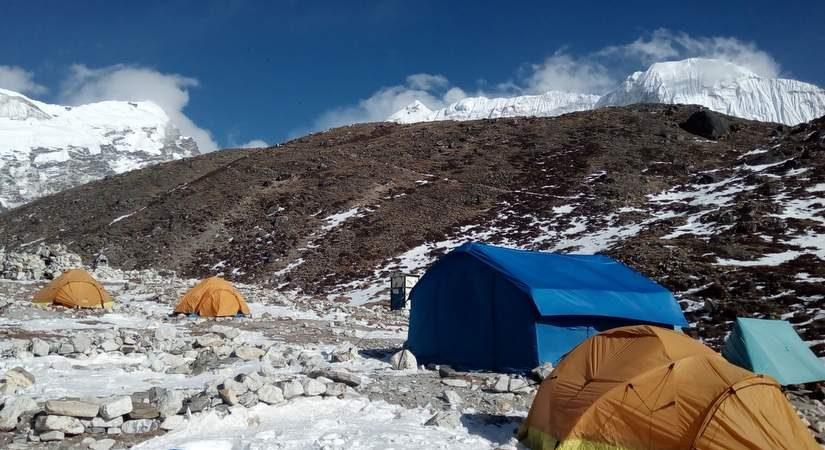 Tented Camp at Lobuche Base Camp