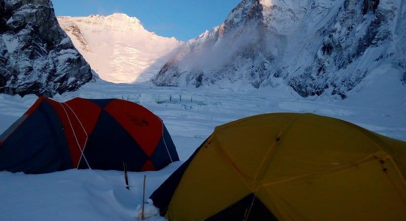 Camping at Baruntse Camp I
