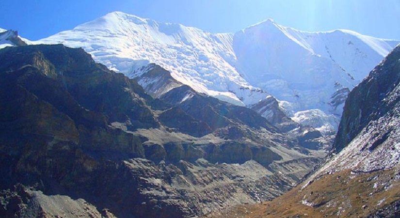View of Mt. Kanjirowa from Jopala Khola