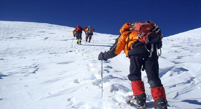 Climbing Mt. Kanjirowa (6883m/22576ft)