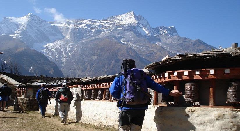 Buddhist Pray-Wheels Mende Village (3736m/12255ft)