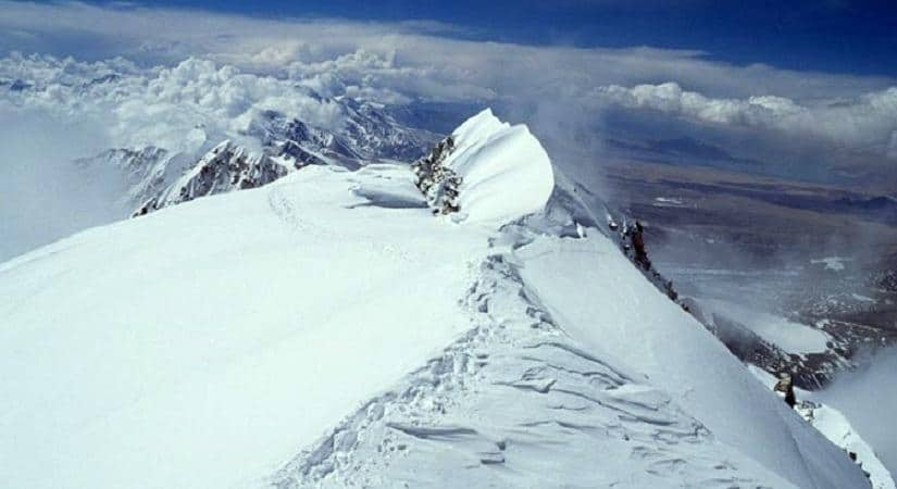 Picture from the summit of Mt. Langtang Lirung <br> (7234m/23727ft)