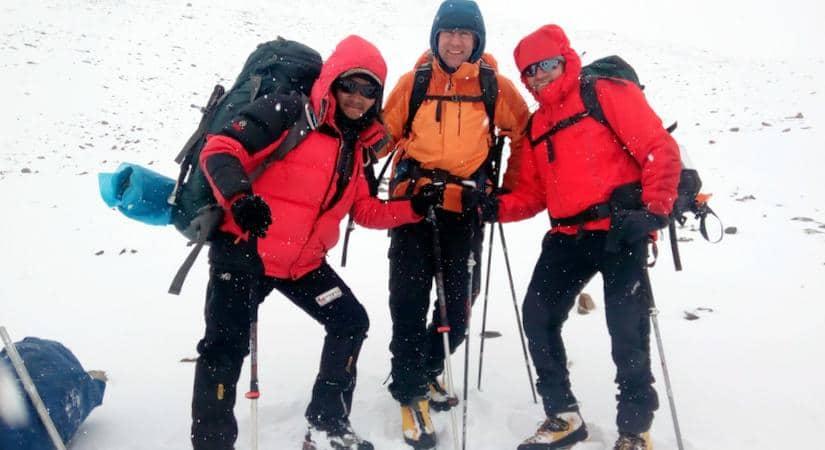 At Mera Peak with Guide Dendi