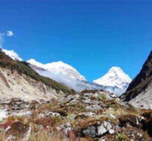 On the way the Mera peak