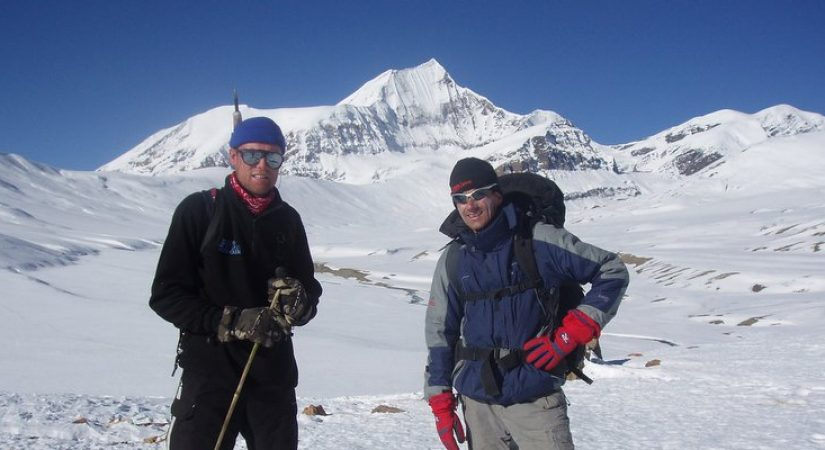 View from Tashi Lapcha Pass (5,755m/18876ft)