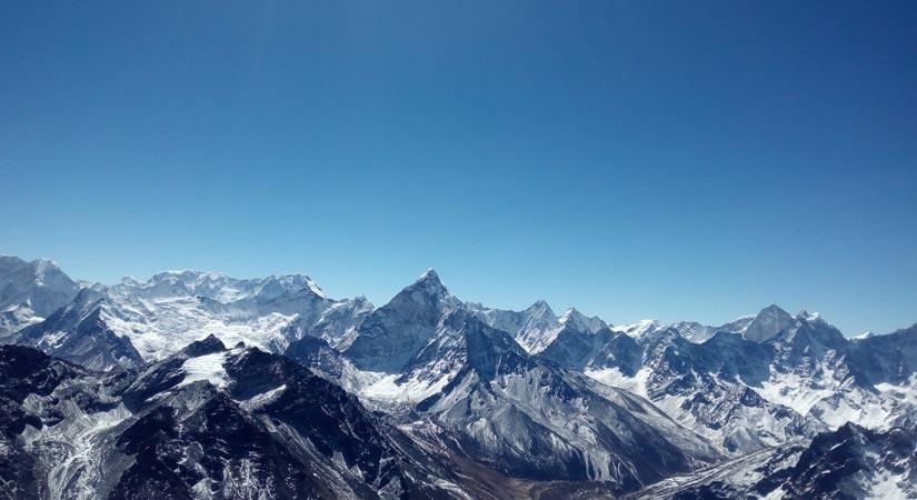 View from Kwandge Peak Summit (6187m/20298ft)
