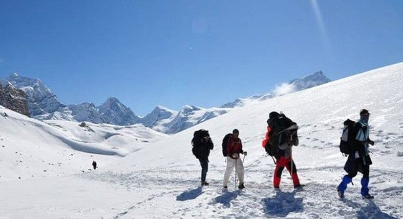 Way to summit of Annapurna I