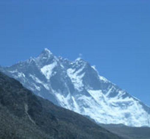 View of Mt. Lhotse 8516m