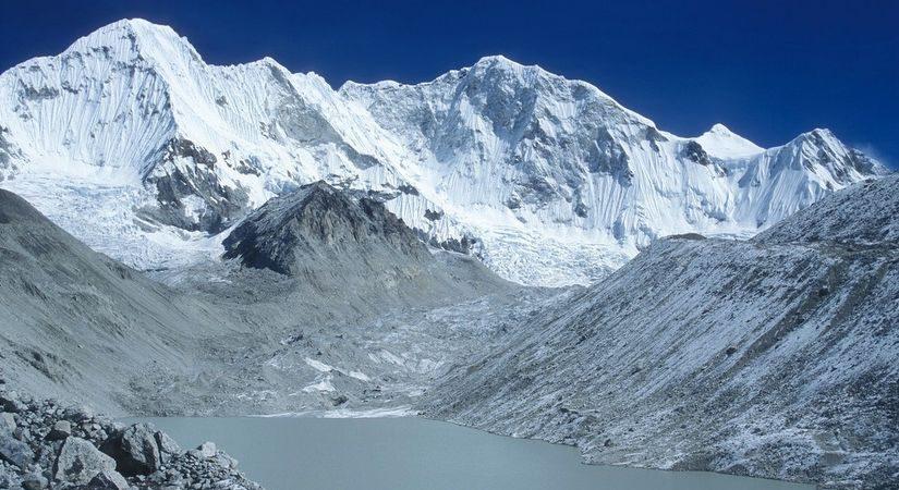 Mountain Baruntse seen from the Hongu valley