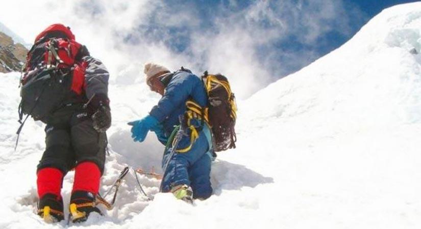 Climbing Pumori